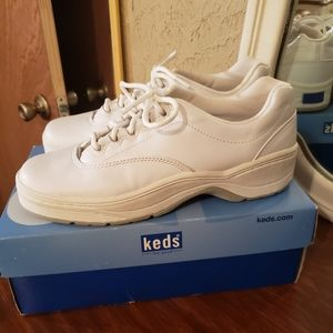 Keds Active White Leather Rise Shoes